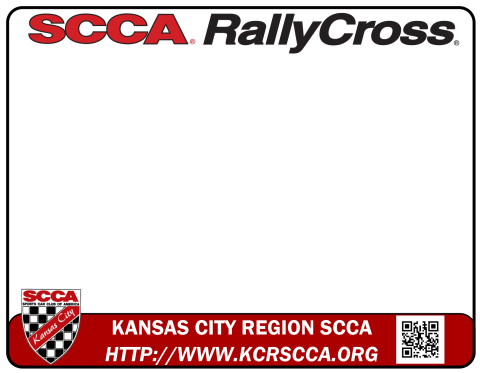 Number panel template for the Kansas City Region SCCA RallyCross program.