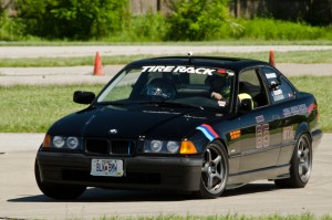 Todd Hesskamp, No. 65 STX, swings Darth Bimmer through a horseshoe turn and into the esses.