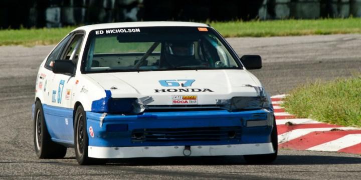 Ed Nicholson in his Honda Civic at Gateway Motorsports Park