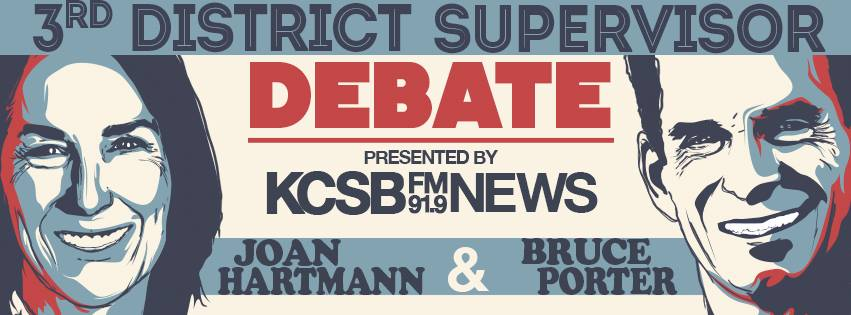 Santa Barbara County 3rd District Supervisorial Candidates to Present their Views at Radio Debate Hosted by KCSB 91.9 FM News
