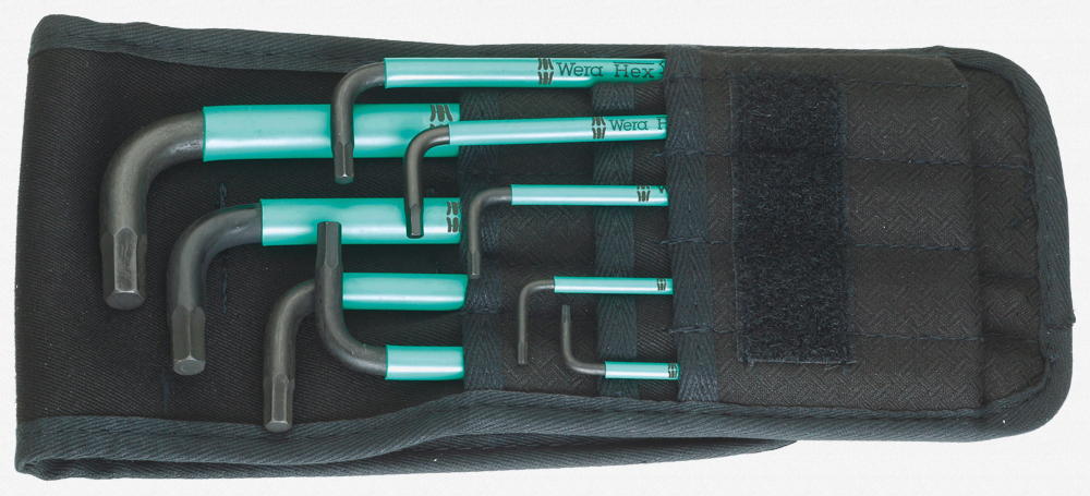 Wera 950 SPKL/9 Hex + Ball End Hex SAE L-key Pouch Set