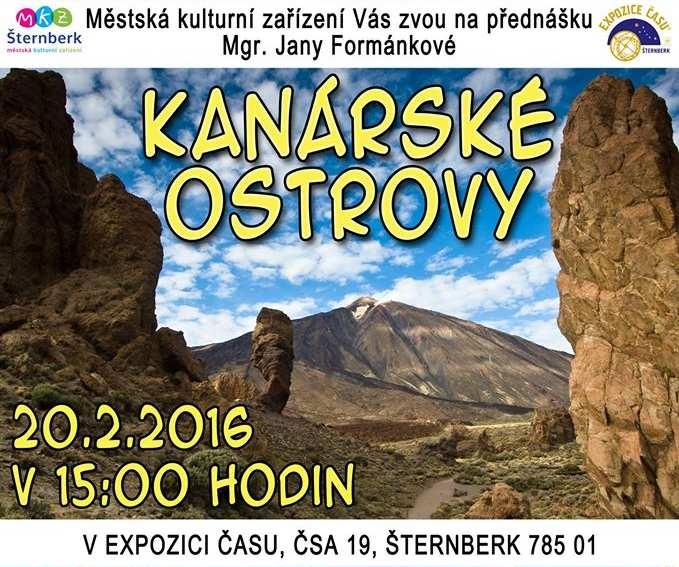 Přednáška o Kanárských ostrovech, přednášející Mgr. Jana Formánková 20.2.2016