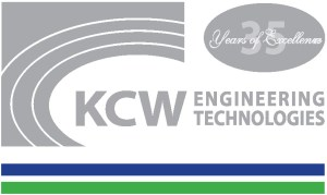blue, green, and silver KCW logo