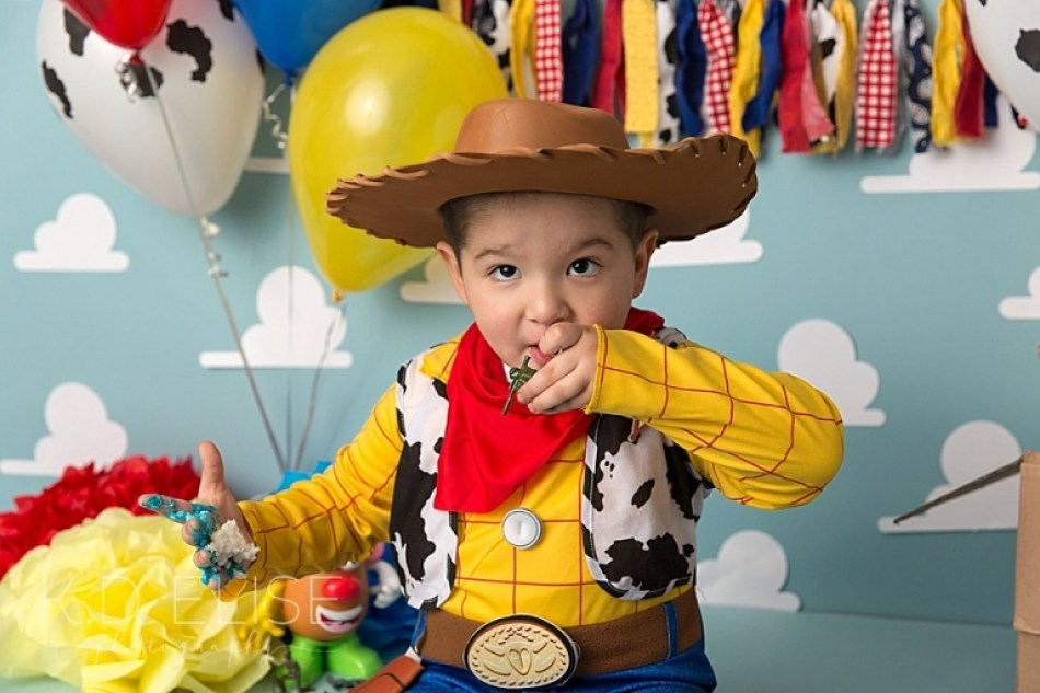 Toy Story themed cake smash session by Colorado Springs photographer K.D. Elise Photography.