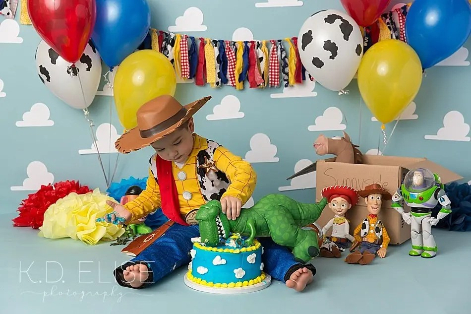 Toy Story Themed Cake Smash Colorado Springs Pueblo Photographer