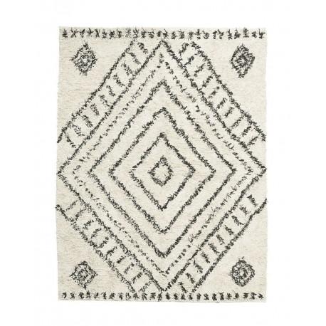 house doctor nubia tapis berbere blanc noir coton 210 x 160 cm rm0140 160x210 kdesign