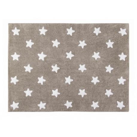 teppich kinder baumwolle beige sterne weisse lorena canals 120 x 160 cm kdesign