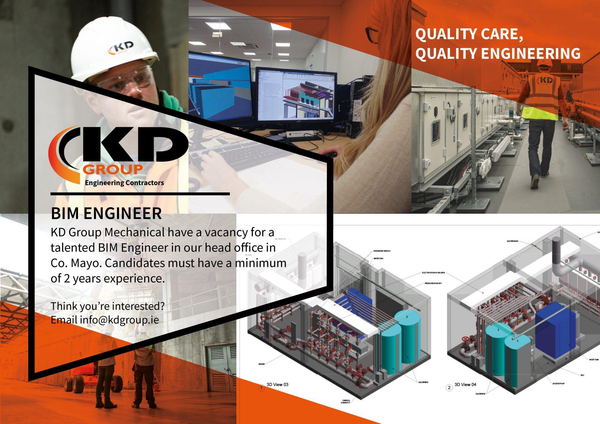 Recruitment for a BIM Engineer Revit MEP Autocad