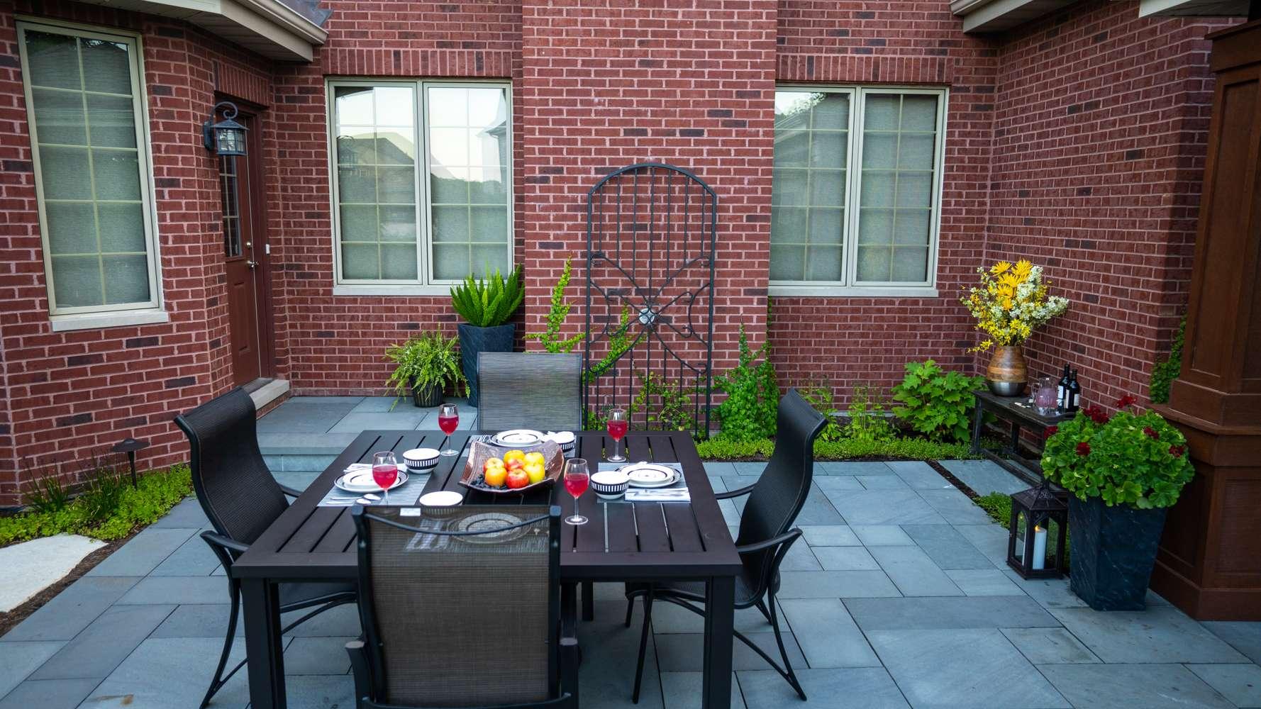 brick patio design installation