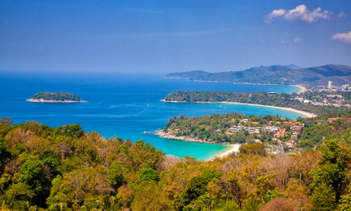 Sam Ao (Hill of the three beaches) Viewpoint in Phuket