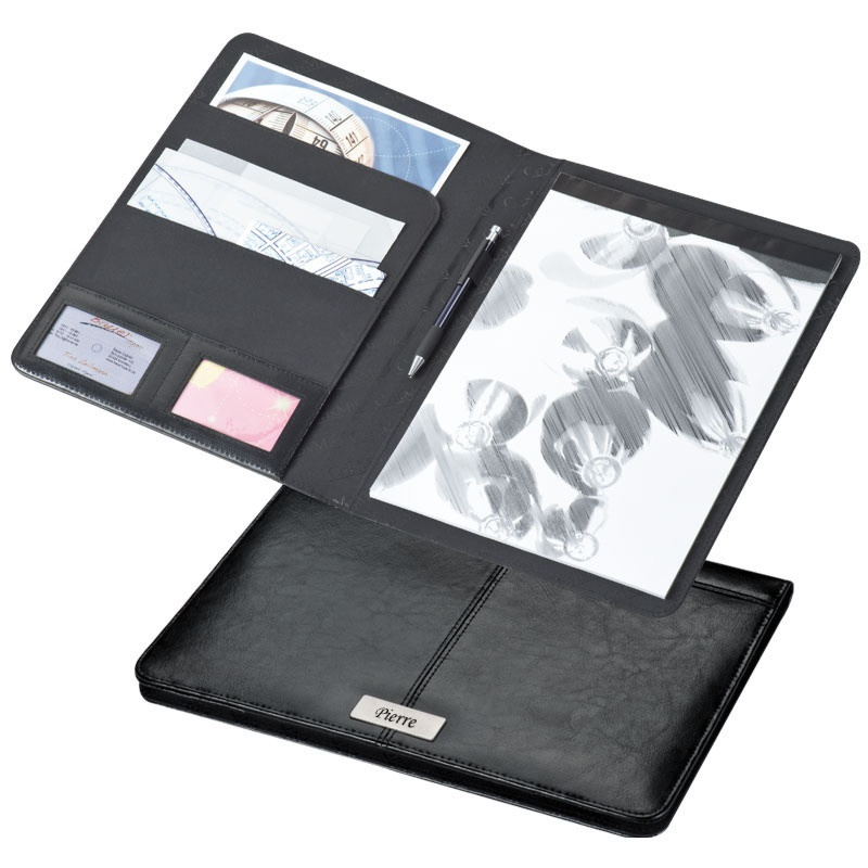 Porte document personnalis     en cuir Porte documents personnalis