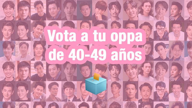 ¡Votaciones a Oppa 40+: Mr. Oppazo!
