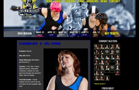Black-n-Bluegrass Roller Girls player bio page