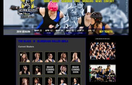 Black-n-Bluegrass Roller Girls team page