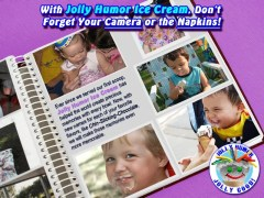 Jolly Humor Ice Cream Advertisement