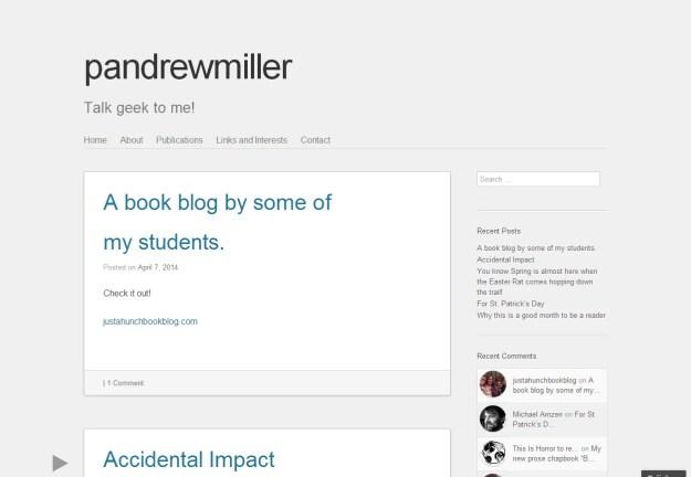 P. Andrew Miller Blog Homepage