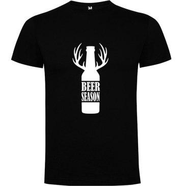 Camiseta para hombre Beer Season color negro