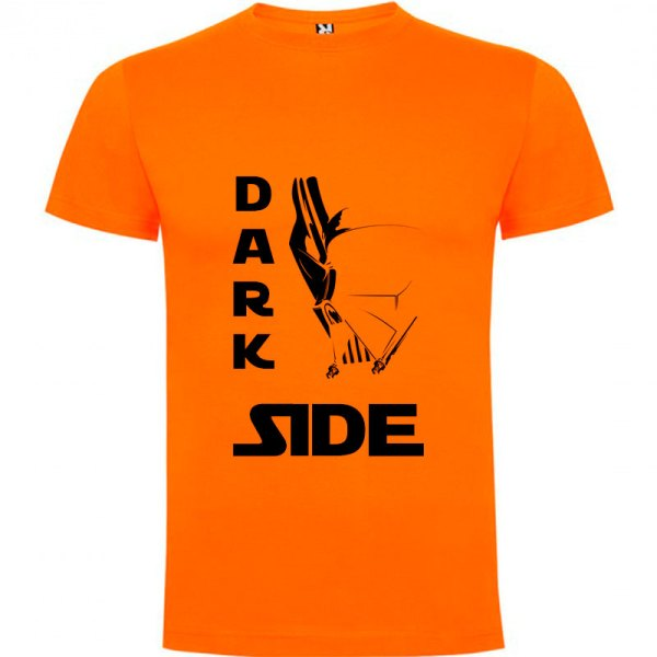 Camiseta para hombre Dark Side death's star en color naranja