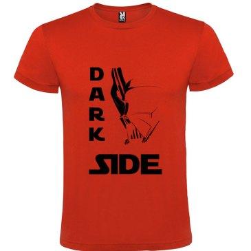 Camiseta para hombre Dark Side death's star en color rojo