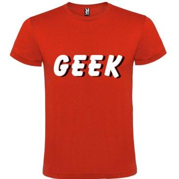 Camiseta hombre Geek Sombra en color roja