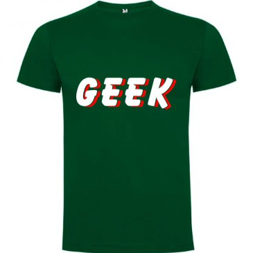Camiseta hombre Geek Sombra en color verde Botella
