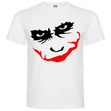 Camiseta manga corta para hombre Joker Smile en Color blanco