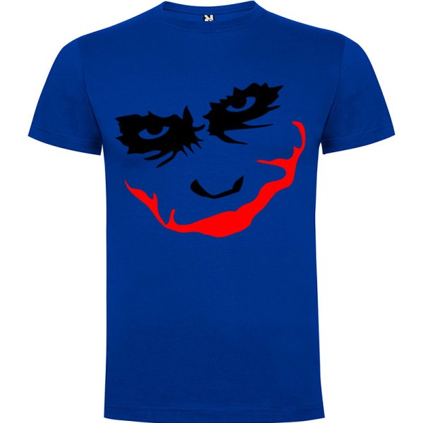 Camiseta manga corta para hombre Joker Smile en Color Azul Royal