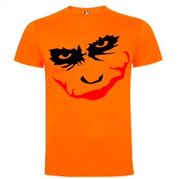 Camiseta manga corta para hombre Joker Smile en Color Naranja
