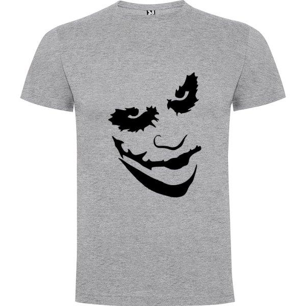 Camiseta manga corta Why so serious?para hombre Joker en Color Gris