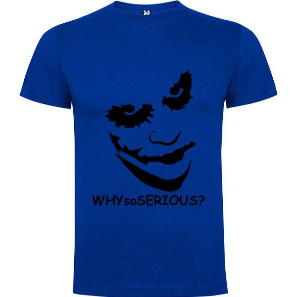 Camiseta manga corta Why so serious?para hombre Joker en Color Azul Royal