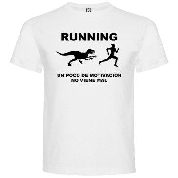 Camisetas divertidas un poco de motivación viene Bién en color blanco y logo en negro