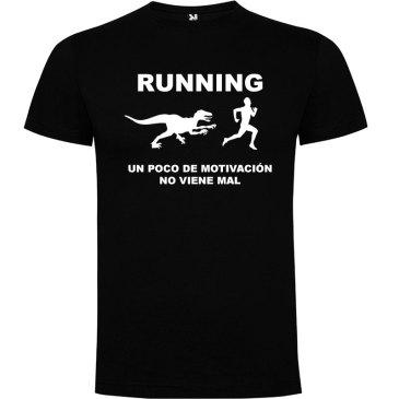 Camisetas divertidas un poco de motivación viene Bién en color negro y logo en blanco