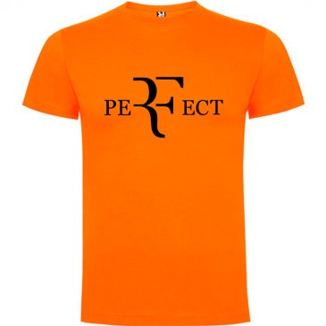 Camiseta para hombre perfect en color naranja