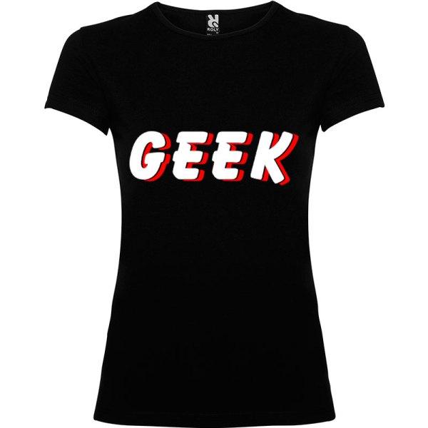 Camiseta mujer Geek Sombra en color negro