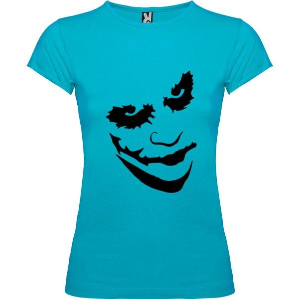 Camiseta manga corta para mujer Joker en Color Turquesa