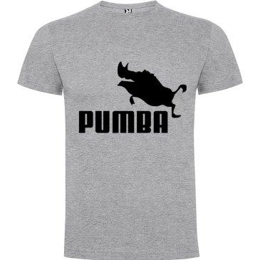 Camiseta hombre divertida PUMBA en gris