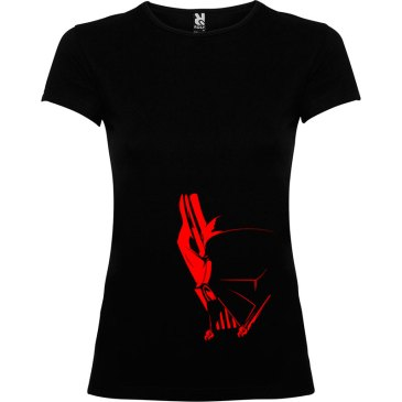 T-Shirt para mujer Dark Side en color negro