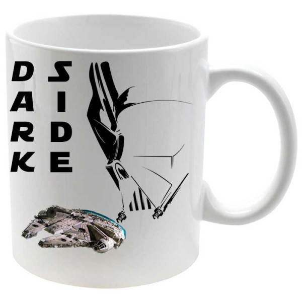 Taza porcelana Dark Side Millenium Falcon