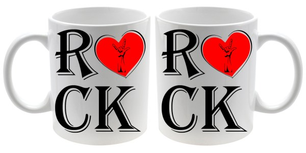 Taza cerámica especial música Rock Love