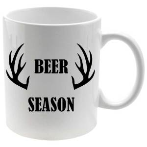 Taza porcelana Beer Season estampado negro