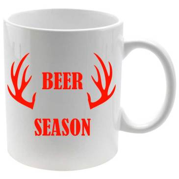 Taza porcelana Beer Season estampado rojo