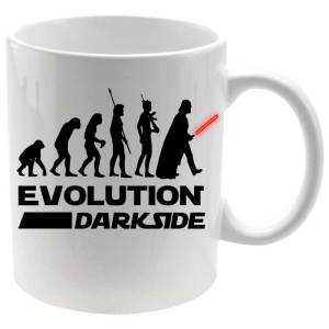 Taza, Mug porcelana Evolution of the Dark Side