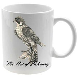 Taza The Art of Falconry en color blanco