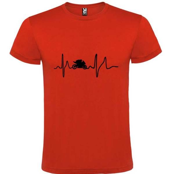 Camiseta para hombre Soy Motero en color Rojo