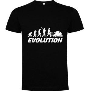 Camiseta para hombre evolución hombre motero en Negro
