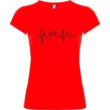 Camiseta para mujer Ciclismo Cardio n color Rojo