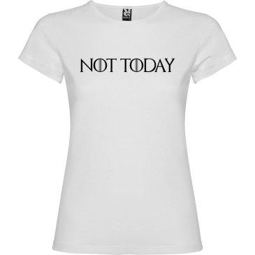 Camiseta para mujer manga corta Not Today Juego de Tronos color Blanco