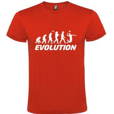 Camiseta manga corta para hombre Evolución Voleibol en color Rojo