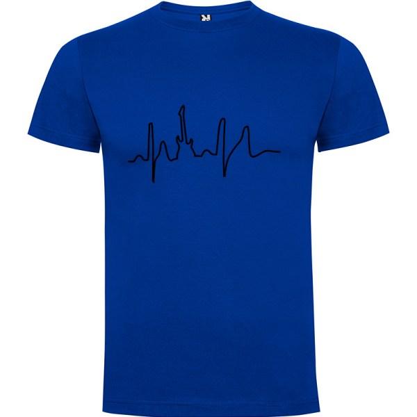 Camiseta para hombre manga corta I Live Rock en color Azul royal
