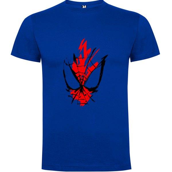 Camiseta para hombre y niños spider en color Azul Royal